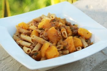 I Never Would Have Thought! Butternut Squash+Sausage+Pasta = Yum!