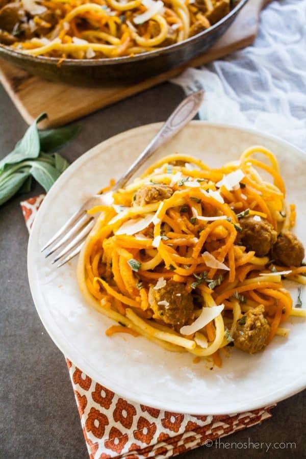 Butternut Squash, Sausage, and Sage Pasta | TheNoshery.com