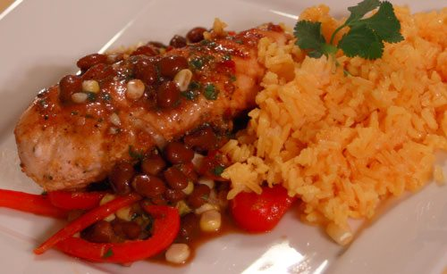 Grilled Spicy Lime Chicken with Black Bean Salsa