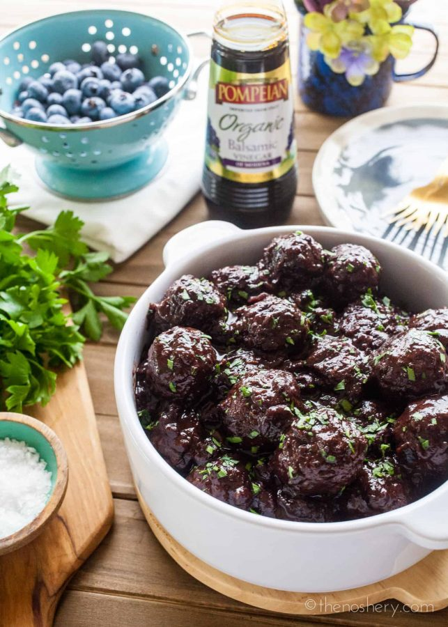Blueberry Balsamic Turkey Meatballs | The Noshery