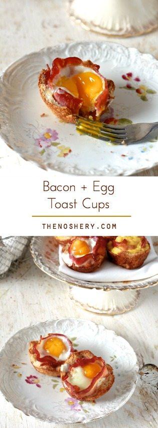 Bacon & Egg Toast Cups | TheNoshery.com - @TheNoshery