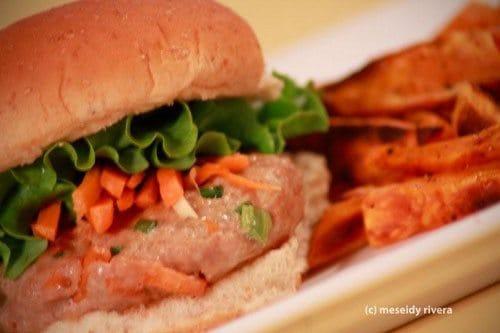 Pad Thai Inspired Asian Turkey Burger