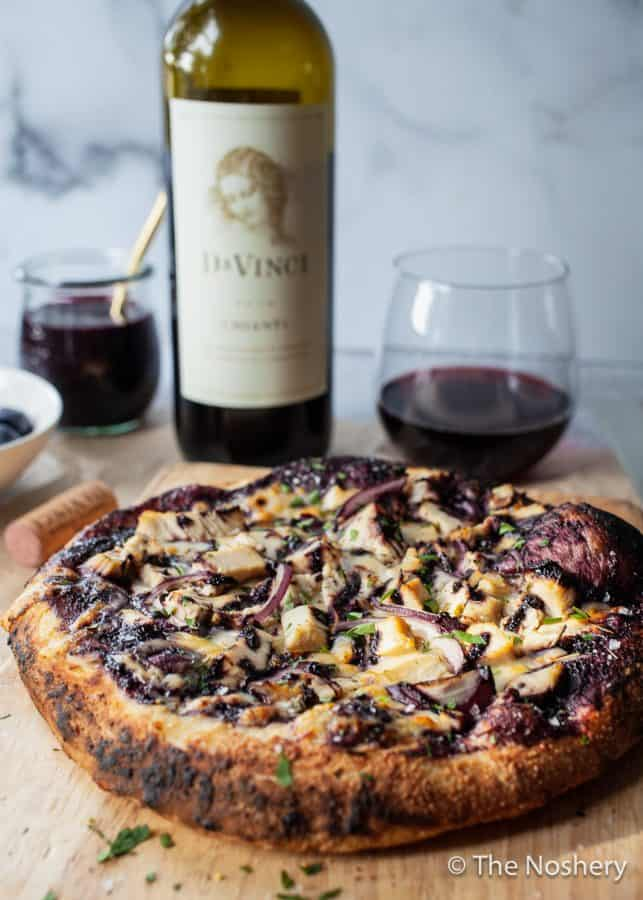 Blueberry Balsamic BBQ Chicken Pizza