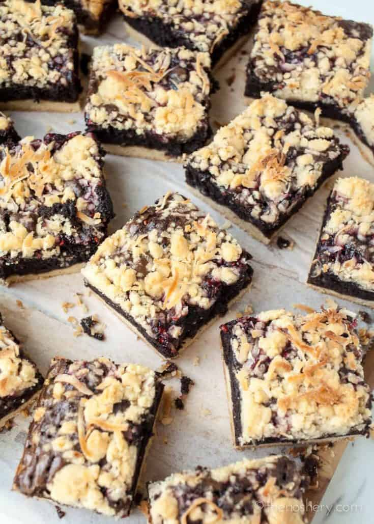 Raspberry Crumb Brownie Bars