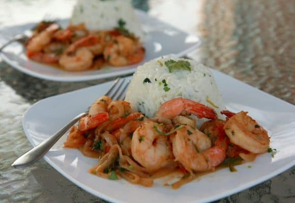 Spicy Tequila Shrimp