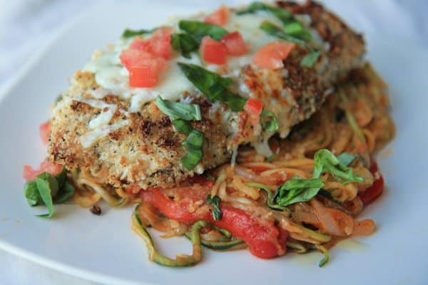 Chicken Parmigiana with Zucchini Noodles