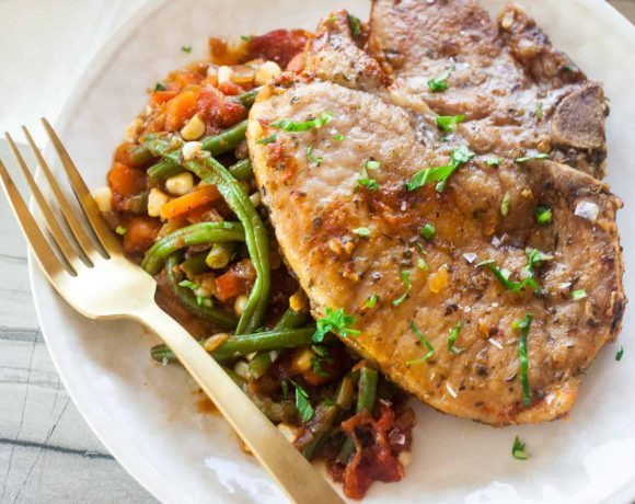 Braised Pork Chops + Vegetables (Chuletas a La Jardinera)