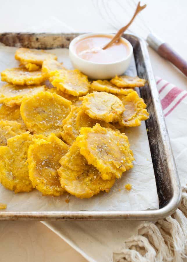 Tostones (Twice Fried Plantains) | TheNoshery.com