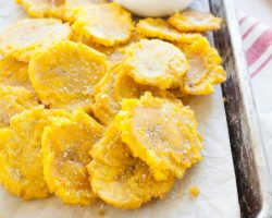 Tostones (Twice Fried Plantains) | TheNoshery.com