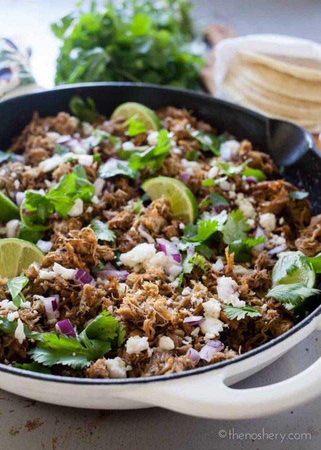 Slow Cooker Carnitas | TheNoshery.com