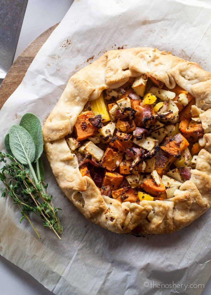 Fall Vegetable and Herb Galette