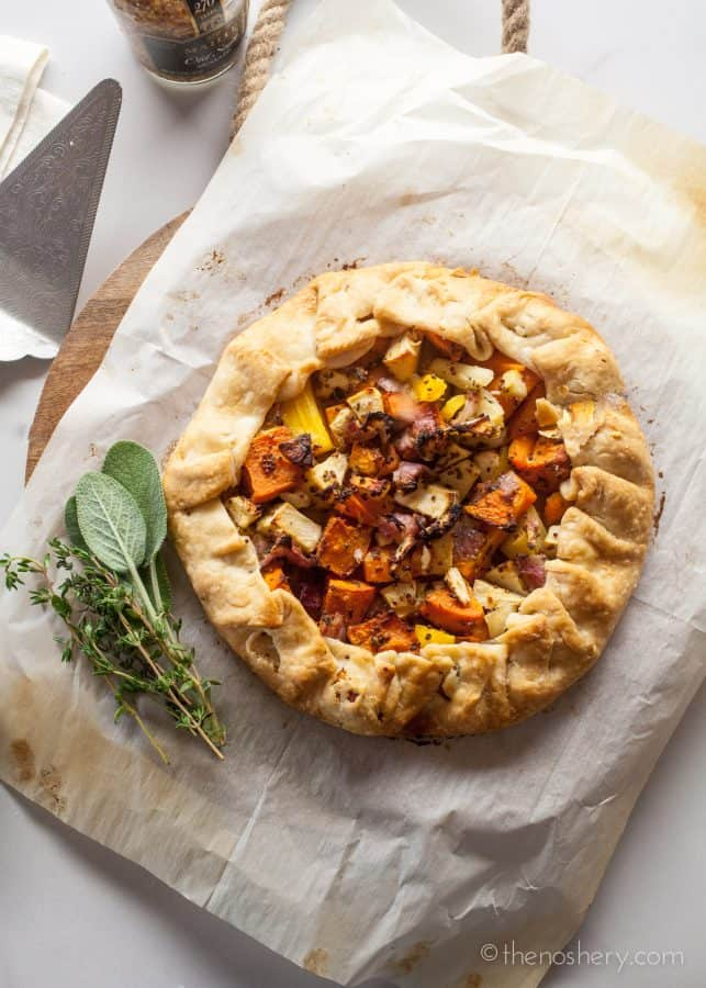 Fall Vegetables and Herb Galette | The Noshery
