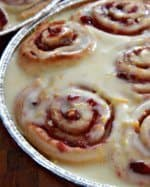 Cranberry Rolls with Orange Icing