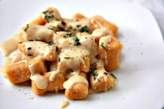 Sweet Potato Gnocchi with Gouda Cheese Sauce