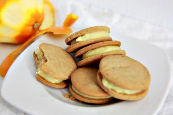 Spiced Cardamom Sandwich Cookies with Orange Cream