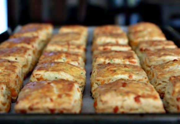 New Year's Day Brunch with Cheddar and Chive Scones