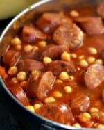 Garbanzos with Smoked Chorizo