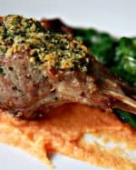 Mint & Ginger Crusted Lamb Chops with Carrot & Parsnip Puree