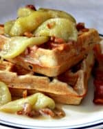 Crispy Spiced Waffles with Caramelized Apples