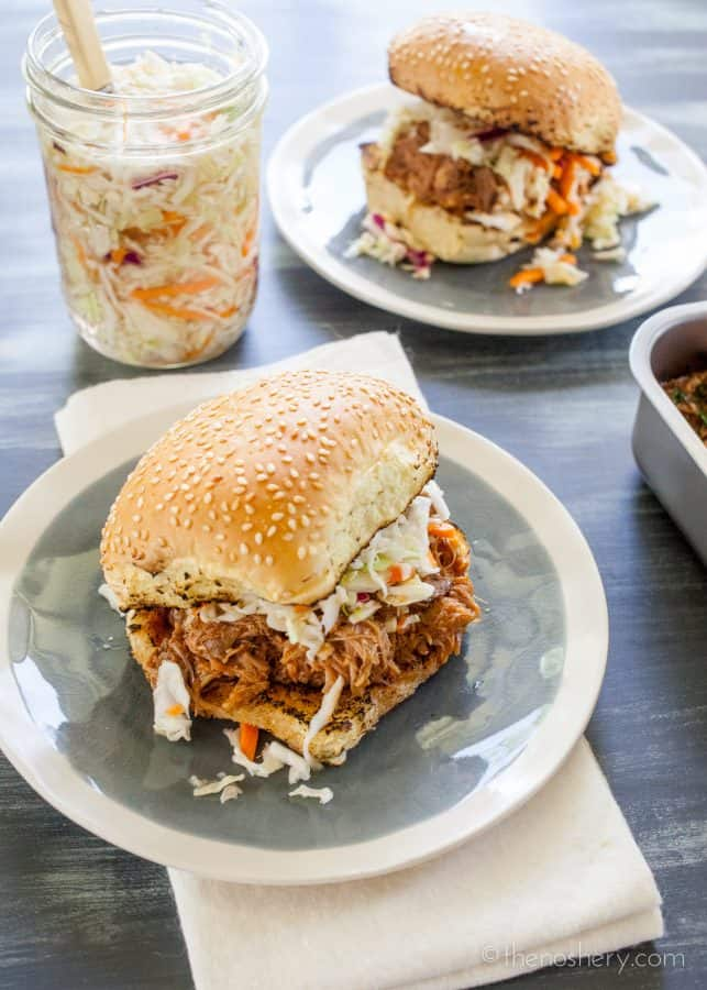 Pulled Pork in Spicy Malta BBQ Sauce | The Noshery