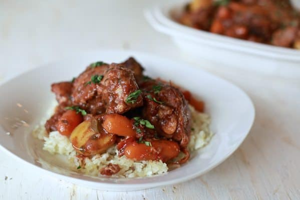 Pollo Fricassee (Chicken in Red Wine)