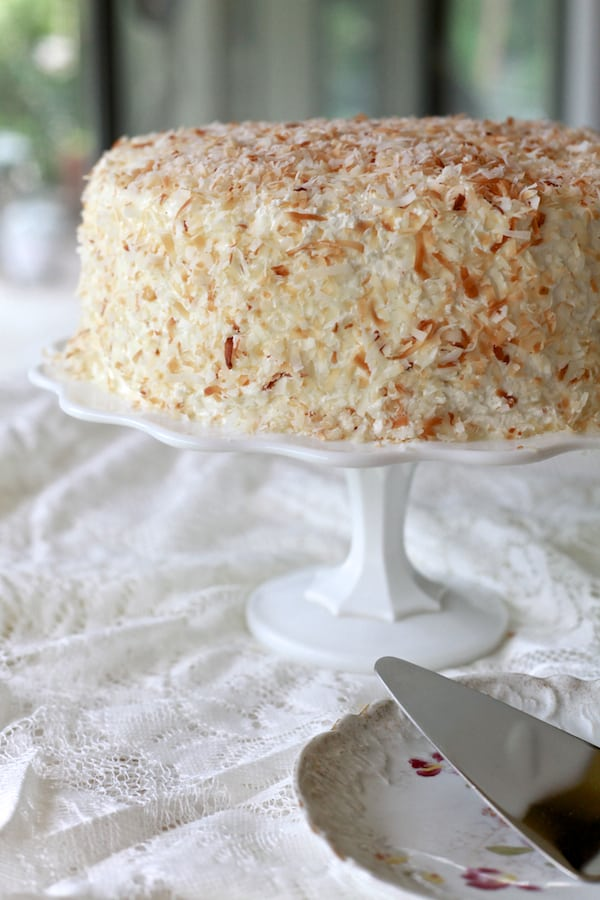Chocolate Coconut Cream Layered Cake | The Noshery