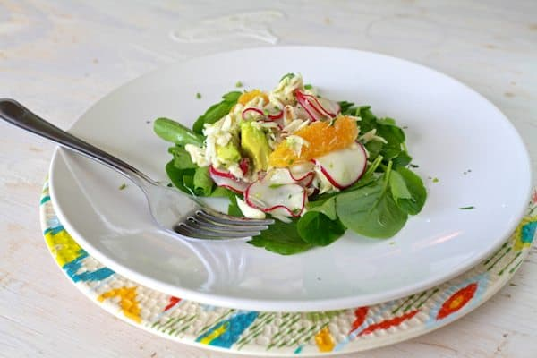 Crab, Radish & Avocado Salad