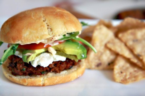 Green Chile & Goat Cheese Southwest Burger