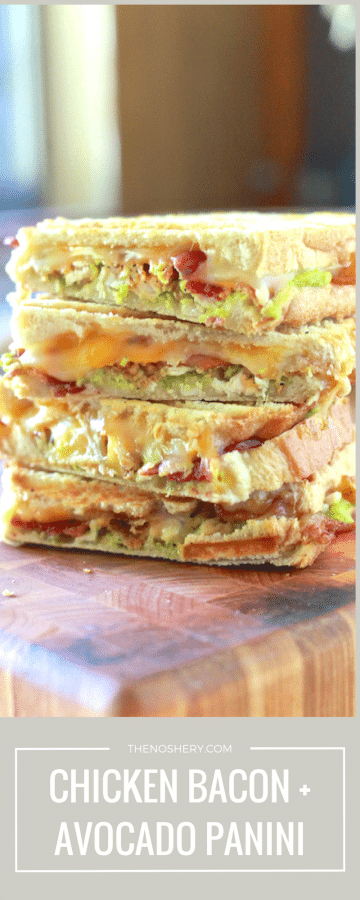 Chicken, Bacon and Avocado Panini | TheNoshery.com