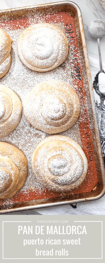 Pan de Mallorca (Puerto Rican Sweet  Bread Rolls) | TheNoshery.com