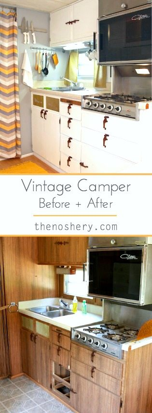 Vintage Camper Before And After