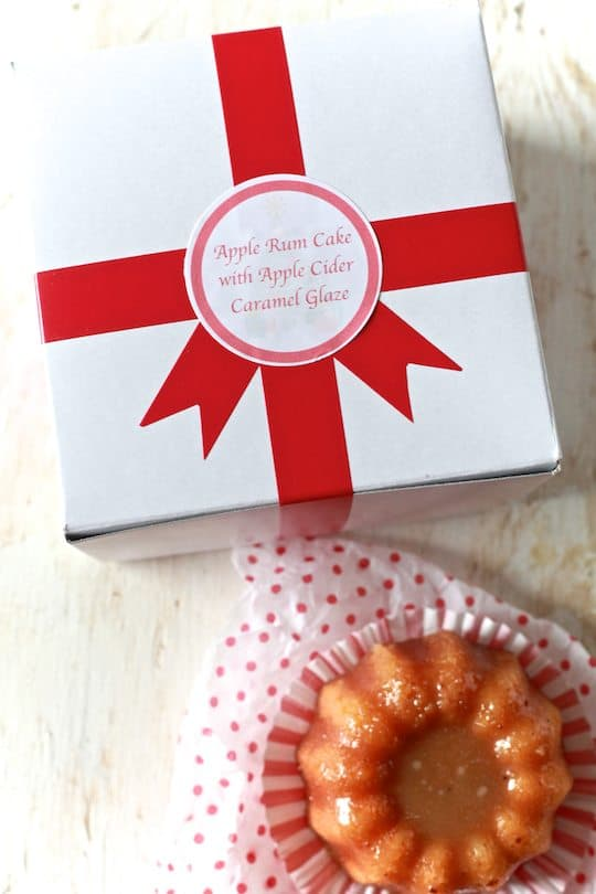 Apple Rum Cake with Apple Cider Caramel - TheNoshery.com