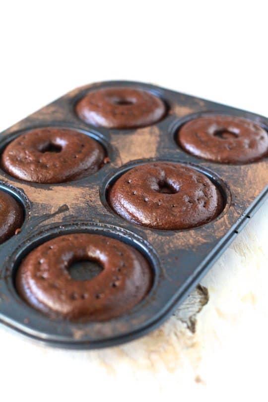 Bourbon Pecan Pie Chocolate Donuts - TheNoshery.com
