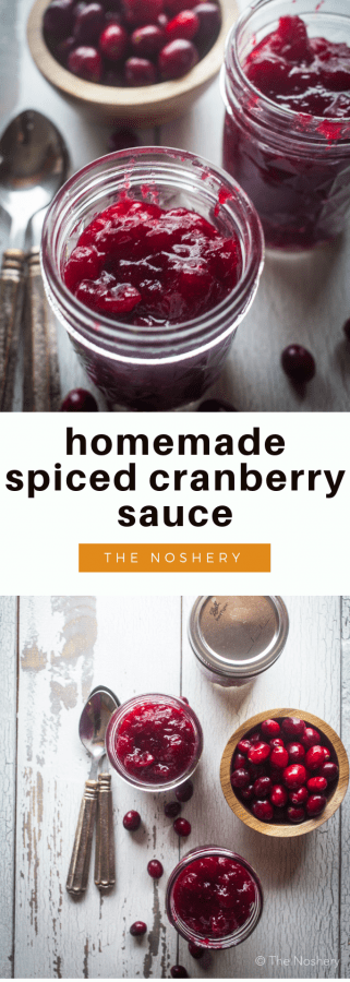 Homemade Spiced Cranberry Sauce | The Noshery