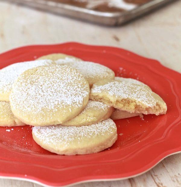 Almond Pillow Cookies | TheNoshery.com