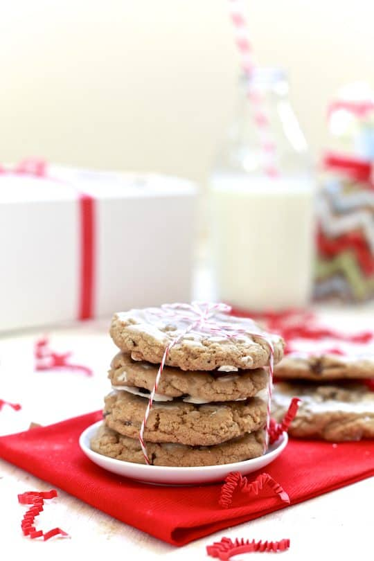 Chewy Chocolate Chip Gingersnaps with Rum Glaze - TheNoshery.com