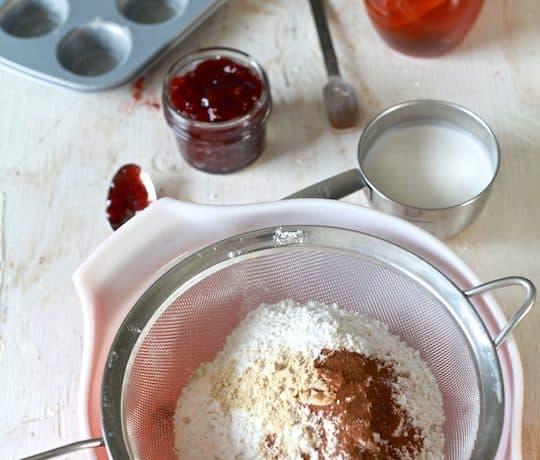 Mini Honey Coconut Cakes with Pomegranate