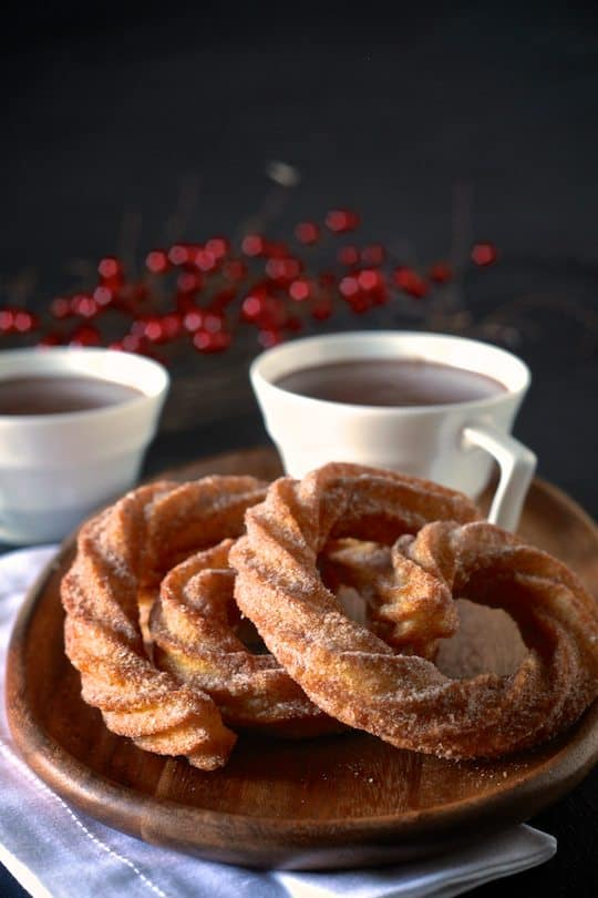 Spanish Hot Chocolate and Coconut Churros | The Noshery