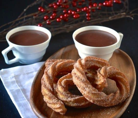 Spanish Hot Chocolate with Coconut Churros