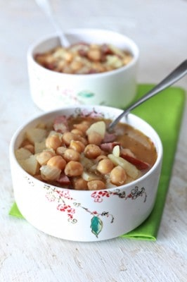 Spanish Bean Soup - by TheNoshery.com