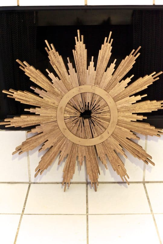 DIY Sunburst Mirror - TheNoshery.com