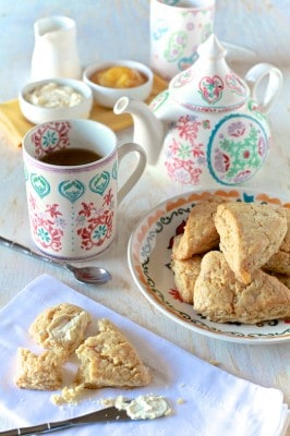 Honey & Ginger Scones - TheNoshery.com