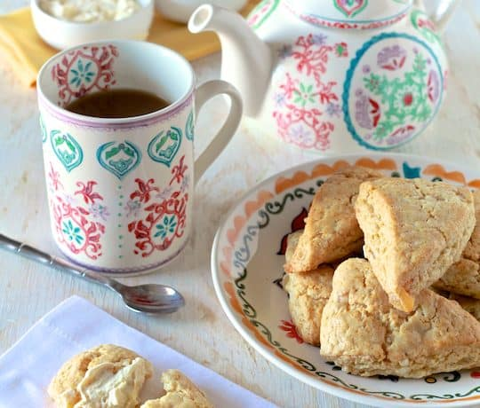 Downton Abbey Tea Party with Honey and Ginger Cream Scones