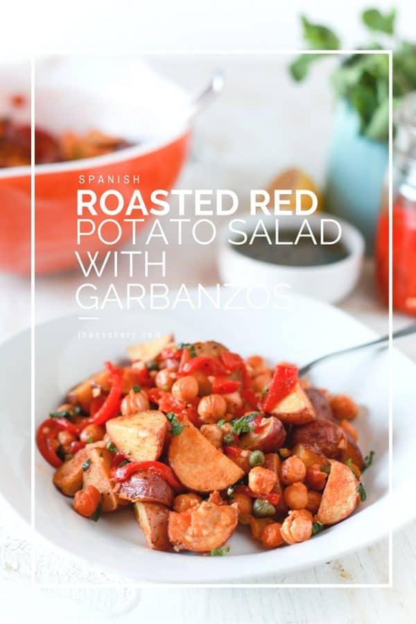 Spanish Roasted Red Potatoes with Garbanzos - TheNoshery.com