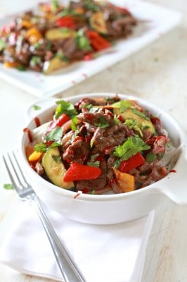 "Spicy Beef and Peppers ""Take-Out"""
