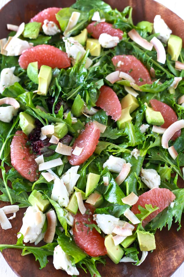 Grapefruit, Avocado and Crab Salad