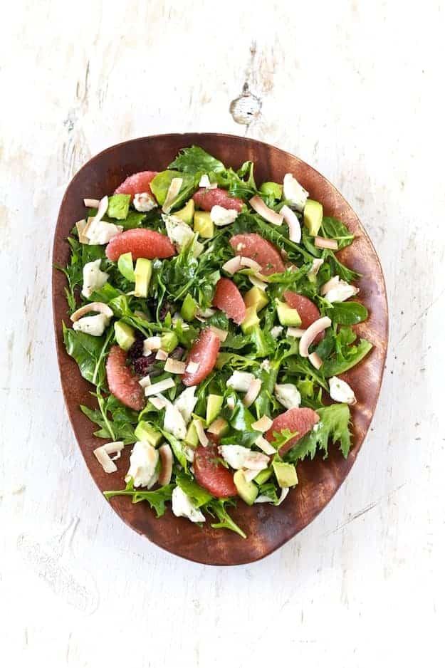 Grapefruit, Avocado and Crab Salad