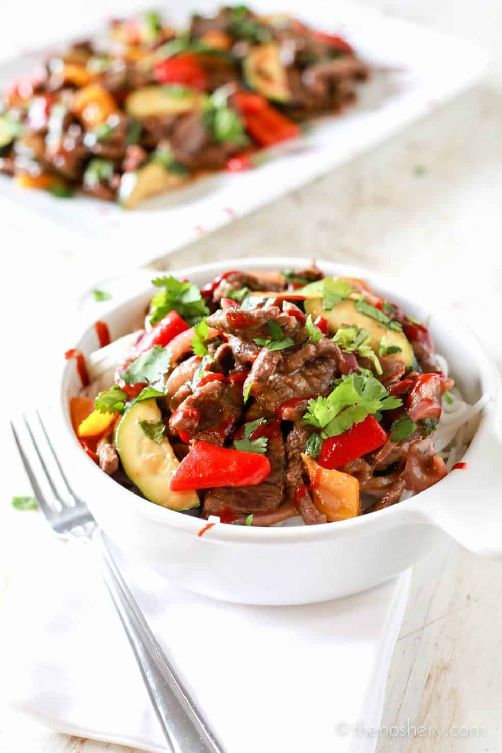 Spicy Beef and Peppers Takeout | TheNoshery.com