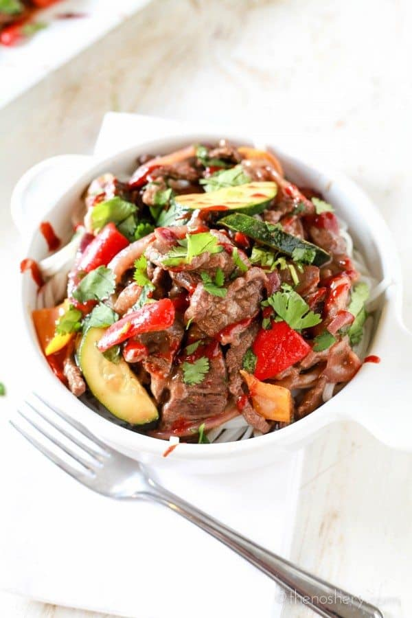 """Spicy Pepper Steak """"Take-Out""""   TheNoshery.com"""