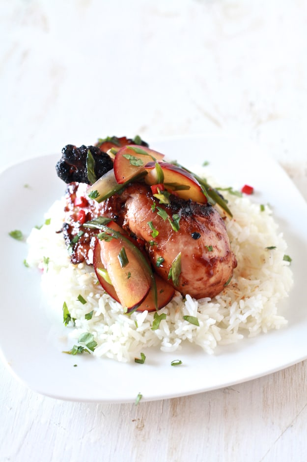 Spicy Chicken with Pickled Plum Salad
